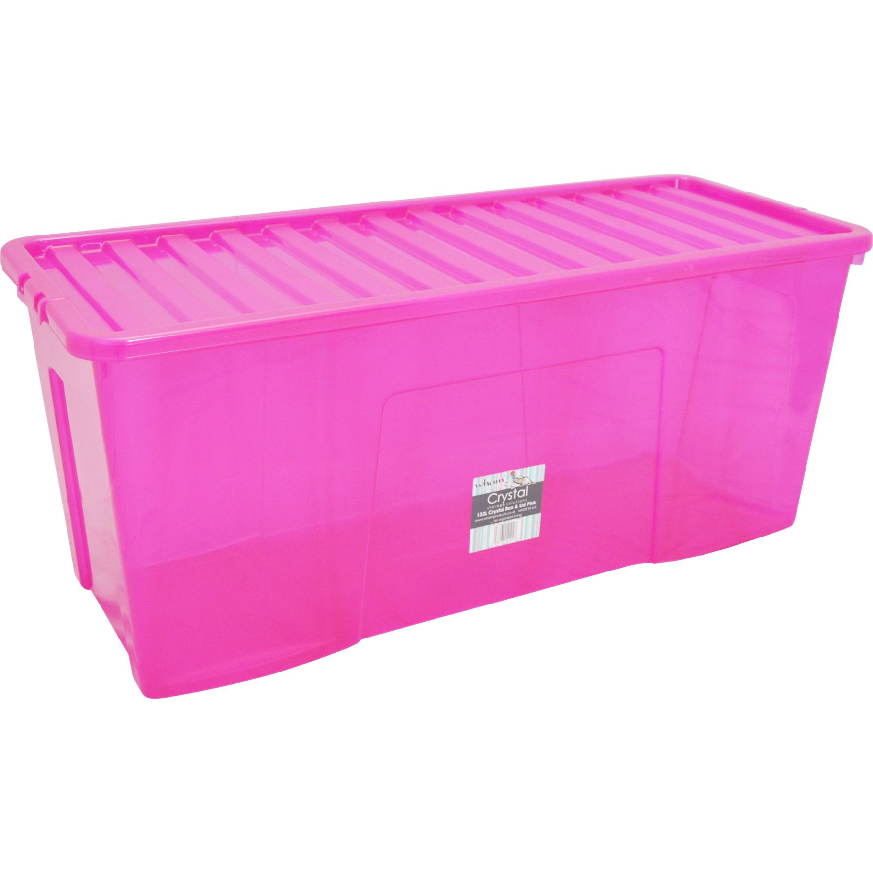 2x Crystal 133l Box Lid Pink House And Home Slemish Landscape
